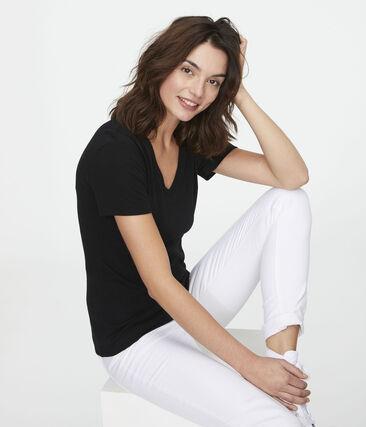 Ikonisches Damen-T-Shirt schwarz Noir
