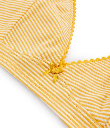 Triangel-BH für Damen gelb Boudor / weiss Marshmallow