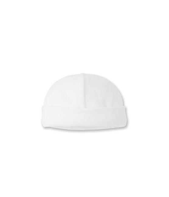 Mütze für Neugeborene weiss Ecume
