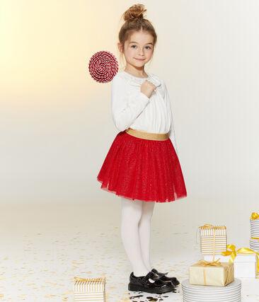 Kinderbluse für Mädchen weiss Marshmallow