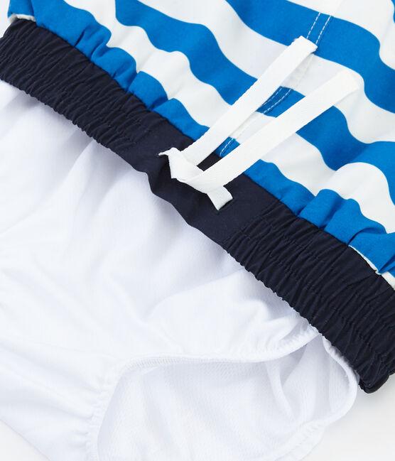 Strandshort Jungen blau Riyadh / weiss Marshmallow