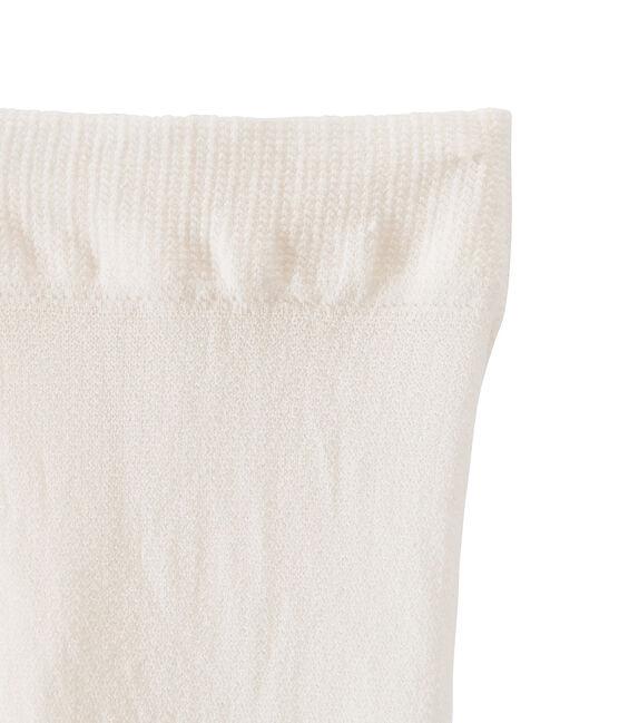Mikrofaser-Kinderstrumpfhose für Mädchen beige Coquille