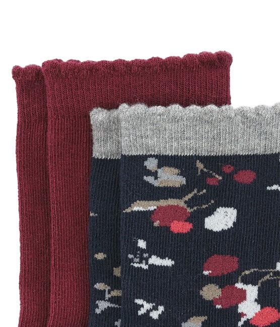 Bunte Socken mit Blumenmotiv im 2er-Set lot .