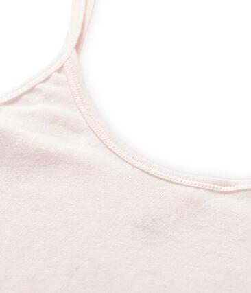 Trägerhemd damen aus leichter baumwolle rosa Fleur