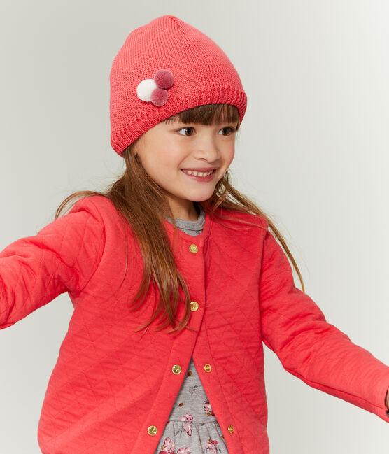 Kindermütze für Mädchen rot Signal