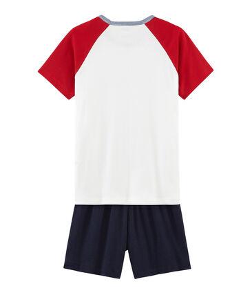 Rippstrick-Kurzpyjama für Jungen