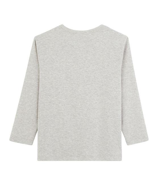 Langarm-T-Shirt für Jungen grau Beluga
