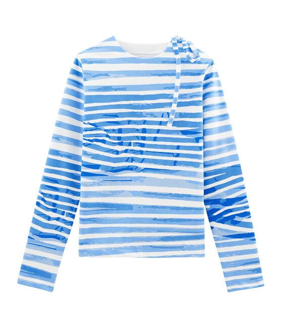 Marinière weiss Marshmallow / blau Bleu