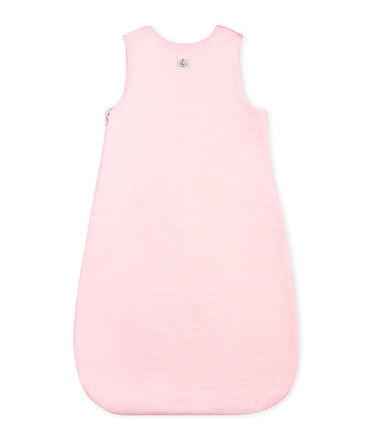 Baby-schlafsack unisex mit ringelstreifen rosa Vienne / weiss Marshmallow