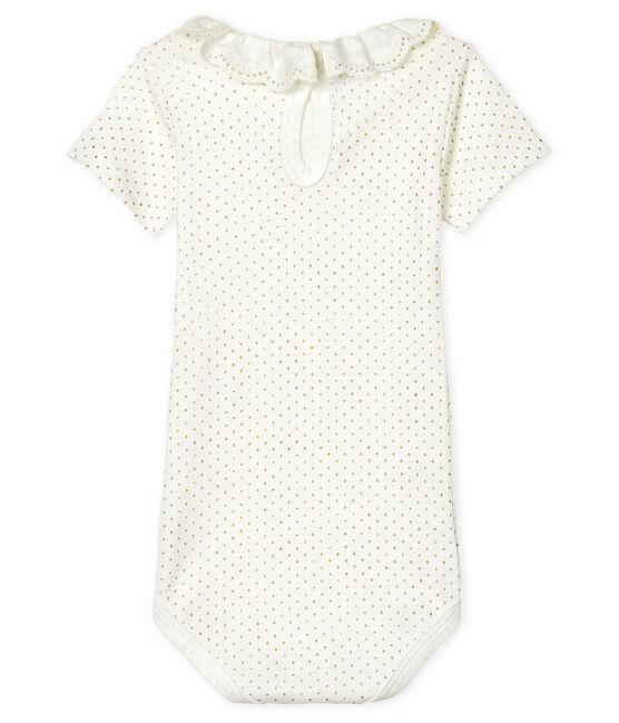 Baby-Body für Mädchen weiss Marshmallow / gelb Or