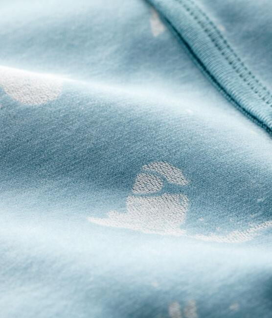 Baby-Strampler 'Yeti' aus Samt für Jungen BRUME/MARSHMALLOW
