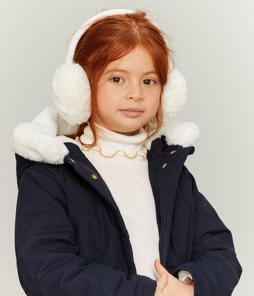 Ohrenschützer für Mädchen weiss Marshmallow