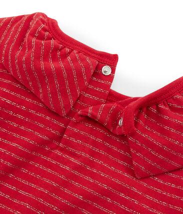 Langärmeliges Kinder-T-Shirt rot Terkuit / gelb Or
