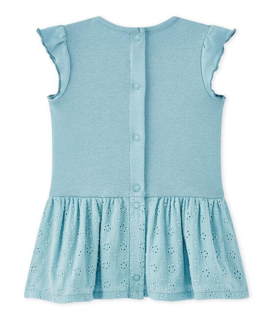 Baby-Mädchen-Kleid mit Schmetterlingsärmeln blau Mimi