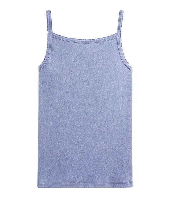 Trägershirt für Damen blau Captain Chine