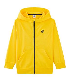 Kinder-Sweatshirt gelb Shine
