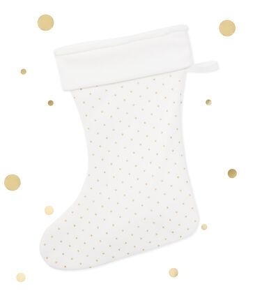 Mädchen-Weihnachtssocken weiss Lait / gelb Or