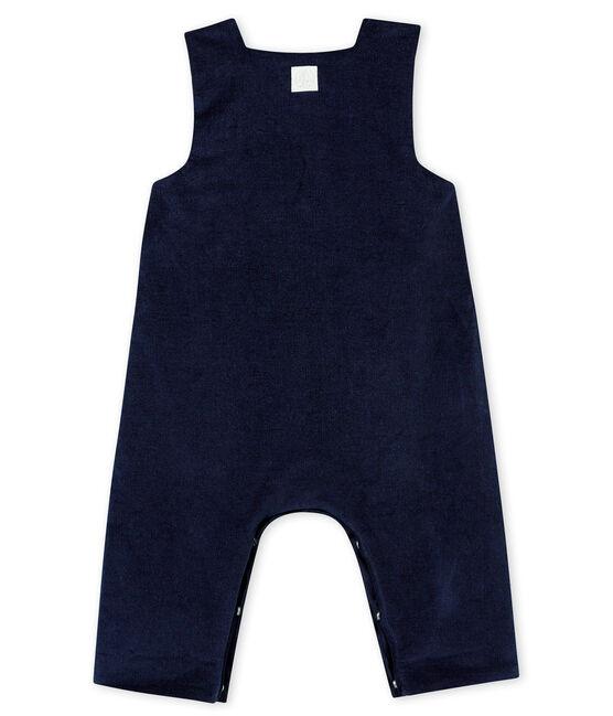 Baby Jungen Latzhose aus feinem Nicki blau Smoking
