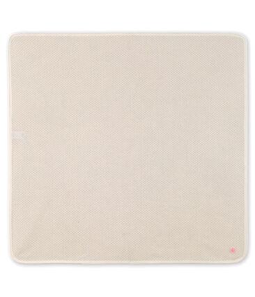 Decke für Neugeborene aus Rippstrick weiss Marshmallow / rosa Gretel