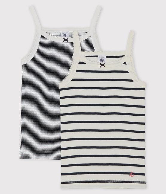 2er-Set gestreifte Trägerhemden für kleine Mädchen lot .