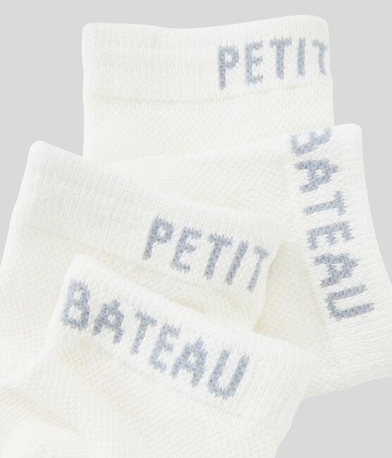 Socken-Set für Jungen weiss Marshmallow