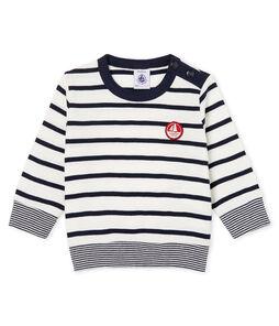Langärmeliges Baby-T-Shirt mit Streifen für Jungen