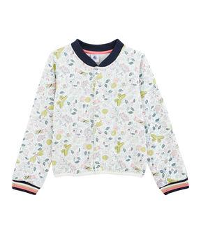 Kinder-Cardigan für Mädchen weiss Marshmallow / weiss Multico