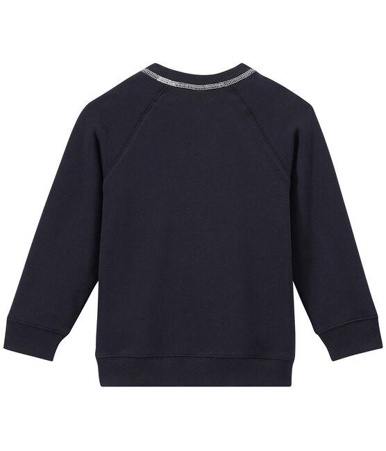 Jungen-Sweatshirt aus Molton blau Smoking