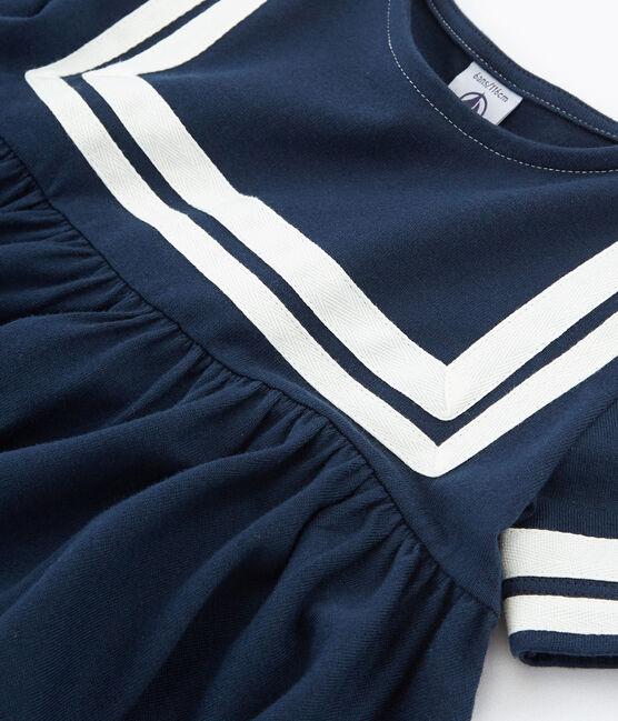 Kinder-Kleid Mädchen blau Haddock