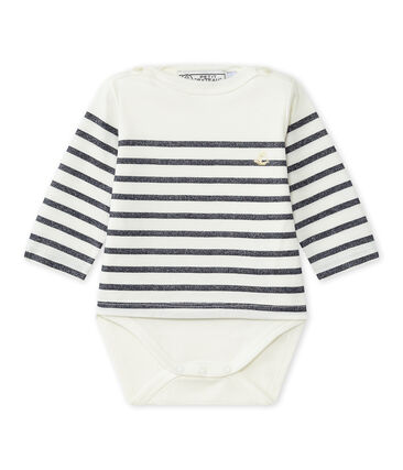 Dieses Baby-Mädchen-Streifenshirt