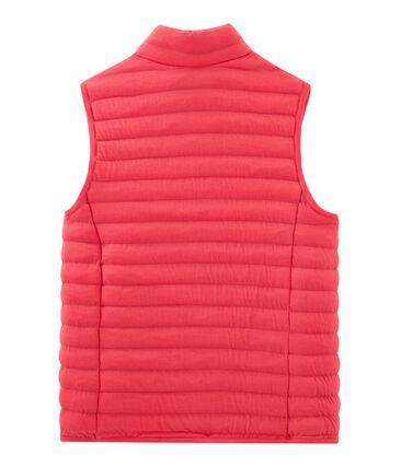 Ärmellose Daunenjacke aus Doppeljersey für Damen rot Signal