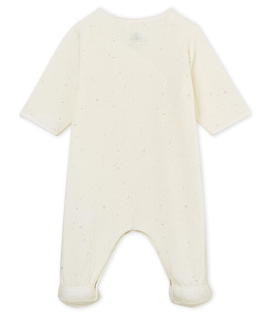 Baby-laken unisex weiss Marshmallow / weiss Multico