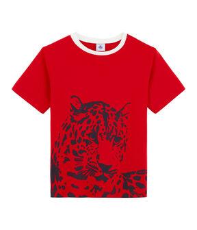 Kinder-T-Shirt für Jungen rot Terkuit