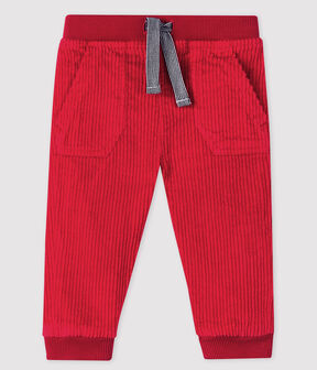 Baby-Hose aus Samt für Jungen rot Terkuit