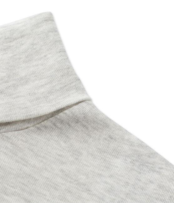 Damen-Unterziehpullover aus leichter Baumwolle grau Beluga Chine