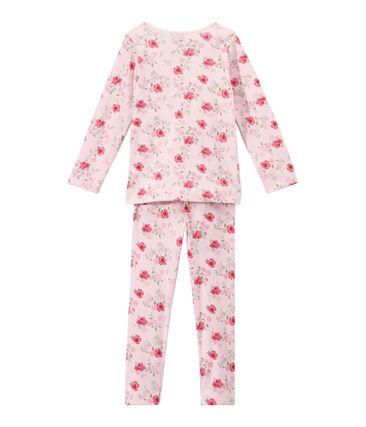 Mädchen-Schlafanzug mit Blümchen-Print