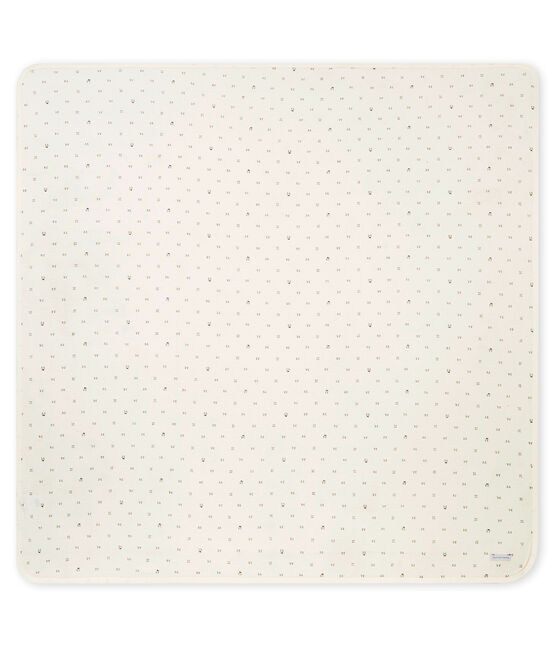 Unisex Baby Wickeltuch aus gedoppeltem Jersey mit Print weiss Marshmallow / schwarz Noir