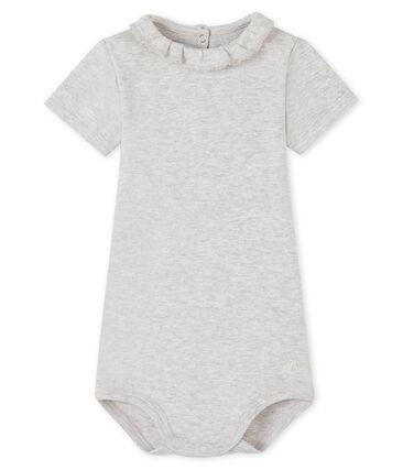 Baby-Body für Mädchen grau Beluga