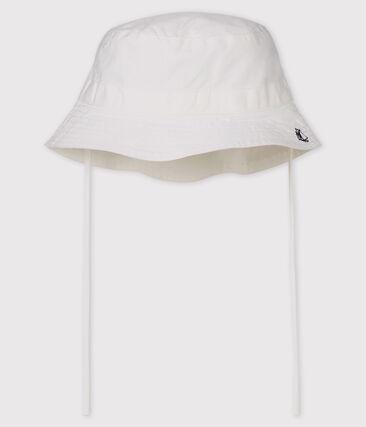 Baby-Twillhut Unisex weiss Marshmallow