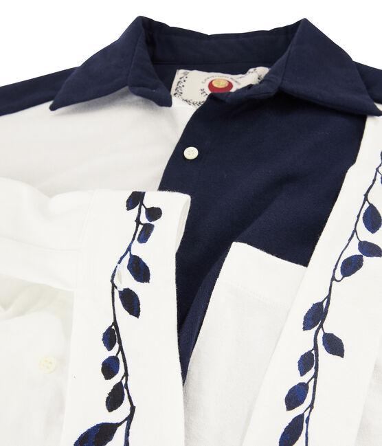 Hemdkleid für Damen Christoph Rumpf x Petit Bateau blau Smoking / weiss Marshmallow
