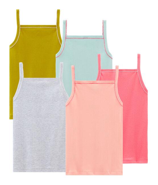 5er-Set Trägerhemden für kleine Mädchen lot .