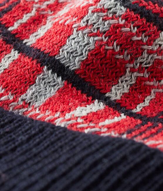Baby-Mütze für Jungen mit Fleecefutter rot Terkuit / weiss Multico