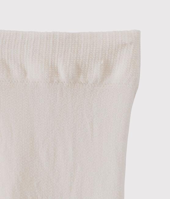 Kinder-Strumpfhose aus Mikrofaser für Mädchen beige Coquille