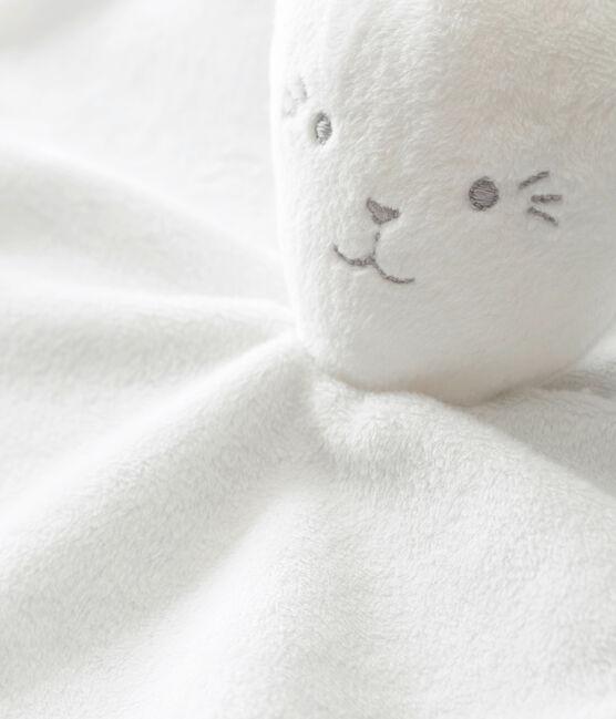 Kuschelhase mit Milleraies-Ringelmuster weiss Marshmallow