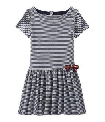 Mädchen-Kleid mit Milleraies-Ringelmuster