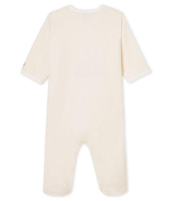 Baby-Pyjama zum Überziehen aus Fleece weiss Marshmallow