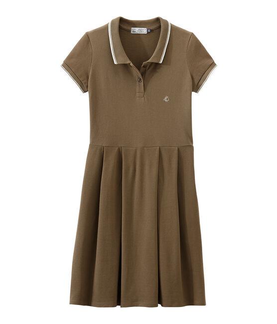 Kleid der Frau inspiriert das klassische polo braun Shitake