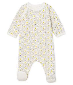 Baby-Strampler aus angerautem, extra warmem Bouclé-Frottier für Mädchen weiss Marshmallow / weiss Multico