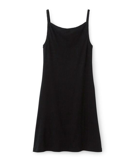 Chemise à bretelles femme coton/laine/soie schwarz Noir
