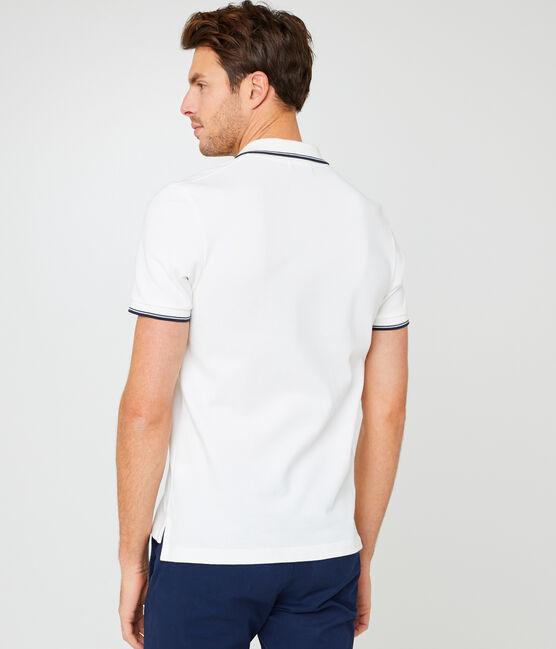Poloshirt für Herren weiss Marshmallow